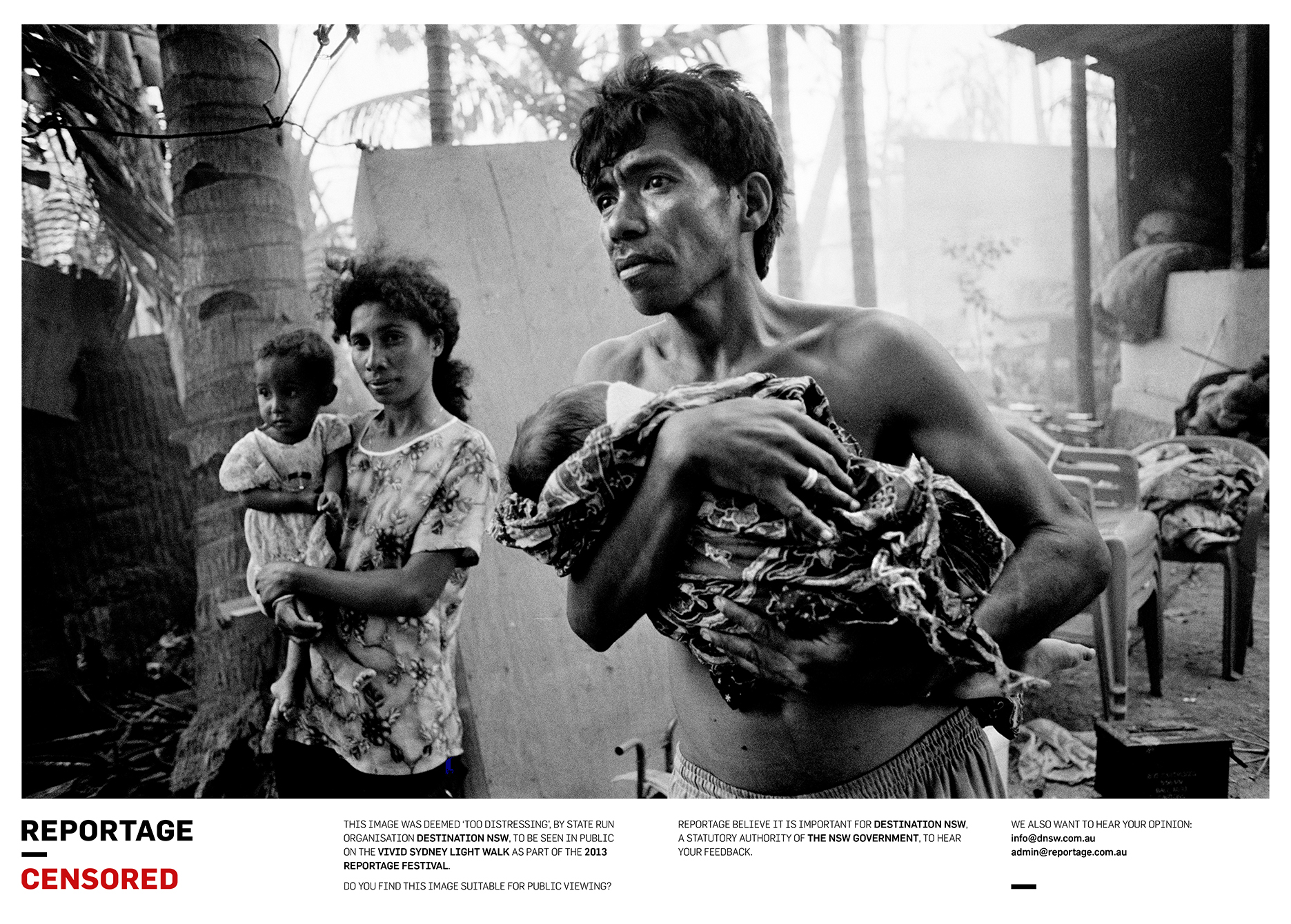 The Guterres family, return to the burnt out remains of their home, as rampaging Militia, alongside Indonesian soldiers, continued to torch nearby buildings. Dili Timor Leste September 1999 ©David Dare Parker