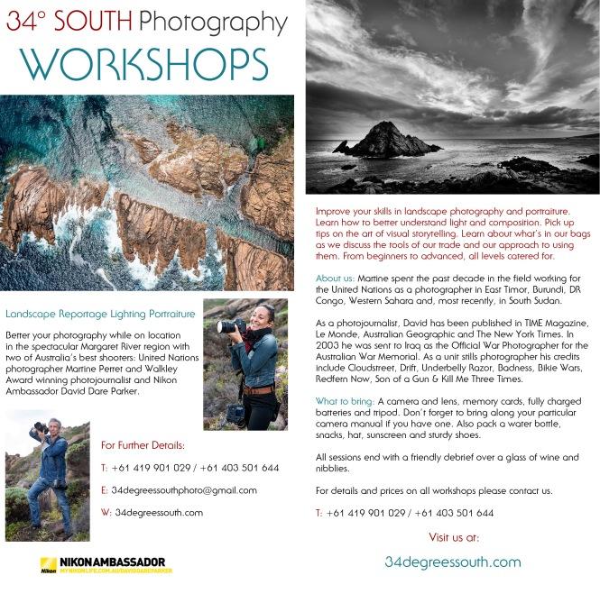 34 Degrees South Workshops